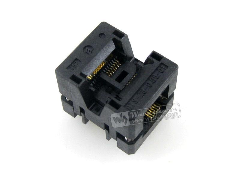 Modules On sale! OTS-14(28)-0.65-01 Enplas IC Burn-in Test Socket Adapter 0.65mm Pitch SSOP14 TSSOP14 Package Free Shipping