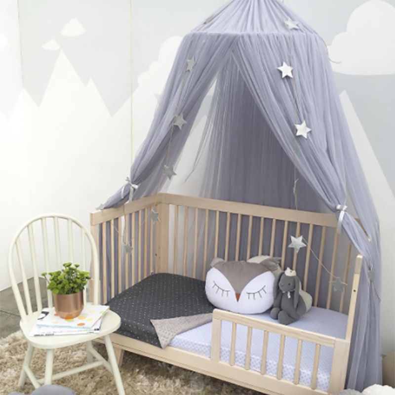 Urijk 1PC Circular Grey Canopy Bed Valance Kids Room Decoration Tent Moustiquaire Princess Girls Round Mosquito Net In From Home