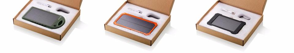Tollcuudda Solar Panel Power Bank 100mAH Battery External Celular Charger Cargador For Xiao Mi universal Phone Solar PoverBank 24