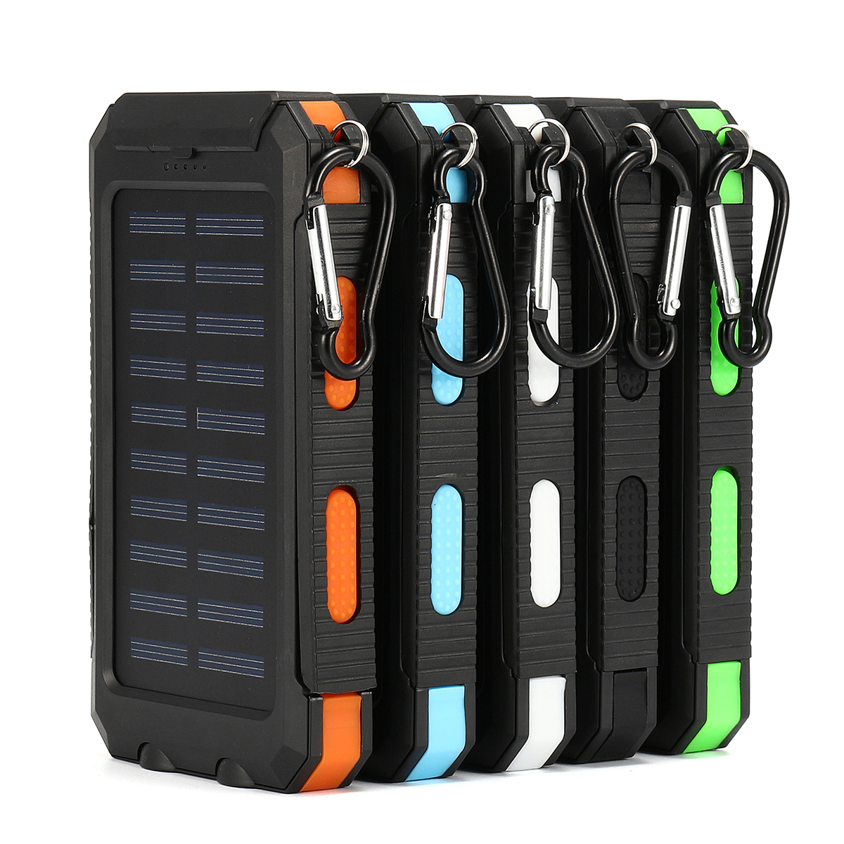 20000mAh Dual USB DIY Solar Power Bank Case Kit Assembling Kit with LED Light 14cmx7.7cmx2.2cm