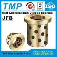 JFB4035 / 4035F (boyut: 40*50*35/65*5mm) flanşlı katı yağlama yağsız grafit pirinç burç   Bakır rulman