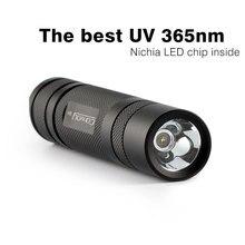 Convoy S2 + Black UV 365nm Led Flashlight ,nichia 365UV in side ,OP reflector, Fluorescent Agent Detection