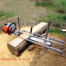 HOOMYA 90cm Portable Chainsaw Mill Planking Milling From 14
