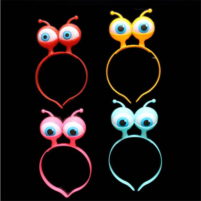Nové produkty 20units / lot Oči Led Čelenka vlasy Spona vícebarevná Bezpečné blikající hračka pro Halloween dekorace a dítě překvapení