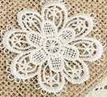 Chất lượng cao ren vải ghi nhãn ren phụ kiện Trâm handmade hollow flower vá DIY