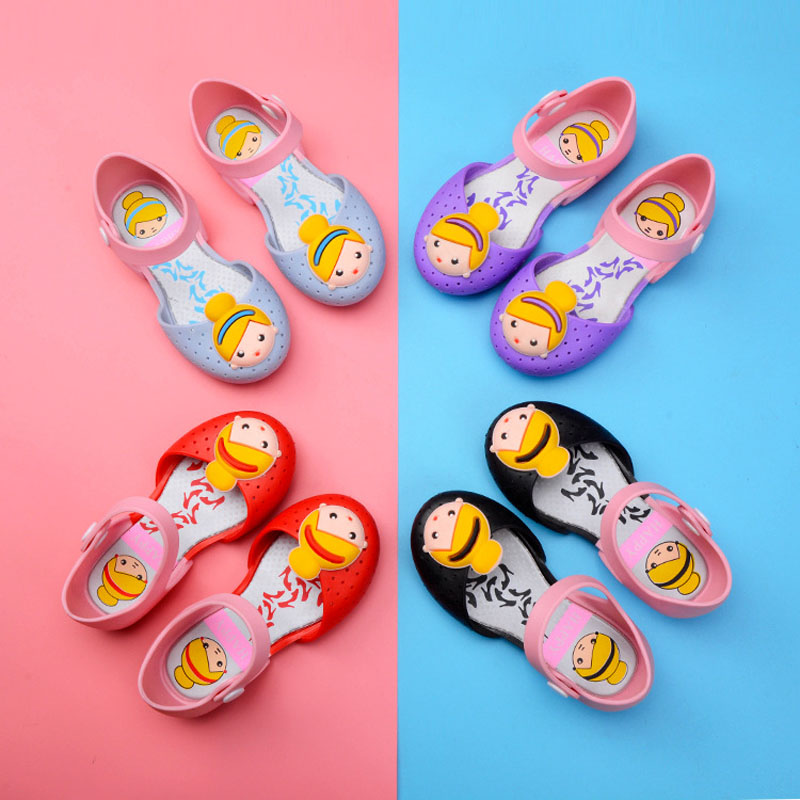 Cinderella Mini Melissa Jelly Shoes Children Sandals for Girls Rubber Shoes Kids Princess Child Beach Little Girl Shoese