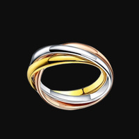 Classic Luxury Famous Brand Love Ring For Women Men Gold Color Titanium Steel Fashion Lovers Jewelry