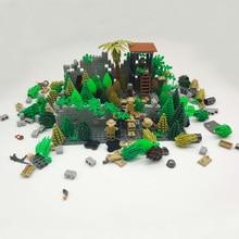 City Parts Garden Bush Trees Building Blocks Bricks Green Plants Block WW2 Military Weapons Accessories LegoINGlys Children Toy