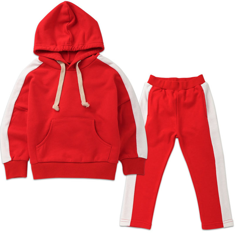 Baby Boys Tracksuit Sets 2018 Spring Autumn Children Sports Suit Stripe Hooded Coat+Pants 2PCS Girls Clothes 2 3 4 5 6 7 8 Years 2018 spring autumn baby boy tracksuit clothing 2pcs set cotton boys sports suit children outfits 2 3 4 5 6 7 years kids clothes
