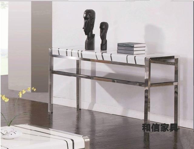 Mode roestvrij staal marmer moderne minimalistische ingang vestibule