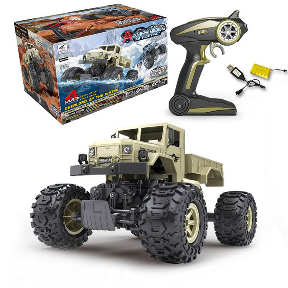 1:12 Amphibious 2.4G Climbing Big Wheel Truck Military Truck Electric Boy Remote Control Car RC Car Climbing Car Children's Gift childred 1 32 detachable kids electric big rc container truck boy model car remote control radio truck toy with sound
