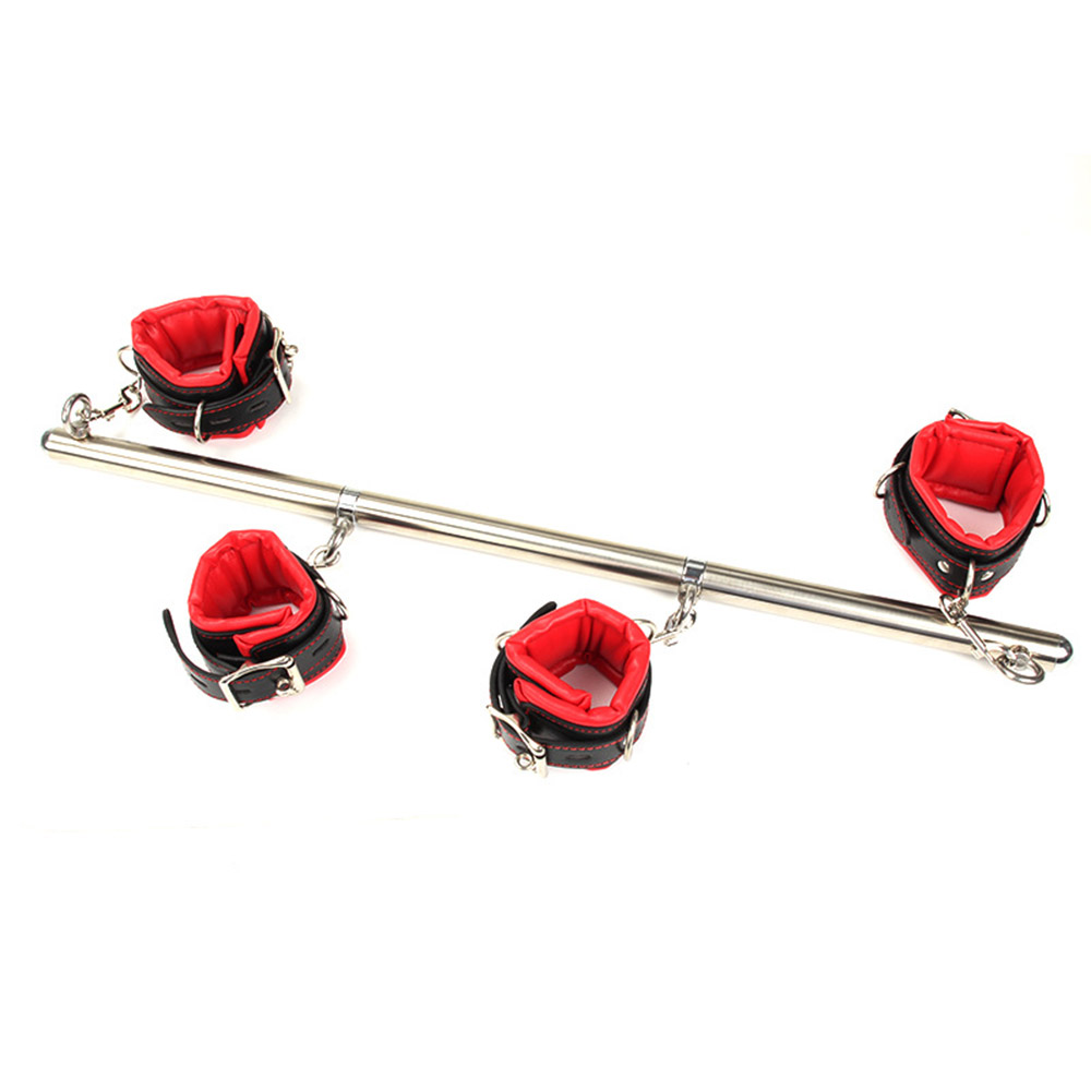 Sex gameAdjustable stainless steel toys spreader bar Bondage Set Unisex sex slave ankle cuffs fetish fetish straps shackles