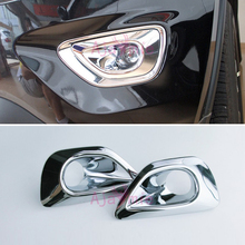 Chrome Car Styling Front Fog Lamp Cover Light Overlay Foglight Trim Panel 2014 2015 2016 For Jeep Grand Cherokee Accessories chrome car styling front fog lamp cover light overlay foglight trim panel 2014 2015 2016 for jeep grand cherokee accessories