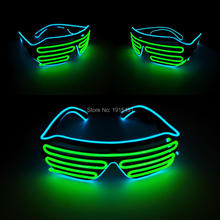 New Type Novelty Lighting Fashionable Child Plastic Toys Safety Cool LED Neon Glasses with Function of Flashing&Steady on