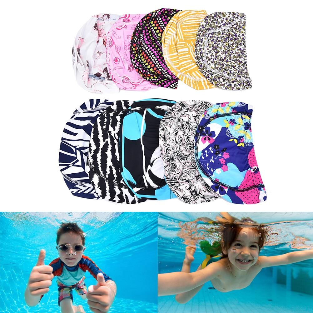 Hot Spandex Children swimming cap Adult men women swim caps