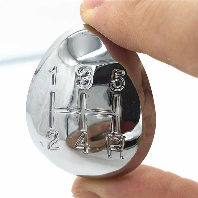 Botão de manopla de câmbio manual 5/6, alavanca de câmbio com cabeça cromada para mazda 3 5 6 323 626 premacy mpv rx8 carro-estilo