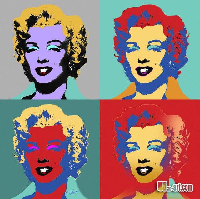 Bunte Marilyn Monroe drucke auf leinwand baumwolle frau öl druck ...