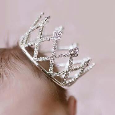 Kūdikių naujagimiai fotografuojami karūnos princesės merginos - Mados papuošalai - Nuotrauka 5