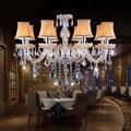 Современная хрустальная люстра для гостиной  спальни  кухни  хрустальная люстра K9 с абажуром  хрустальная люстра  освещение