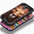 Super anti-knock pequeno cintura pintura relief 3d suave silicon capa case para samsung galaxy s5 i9600