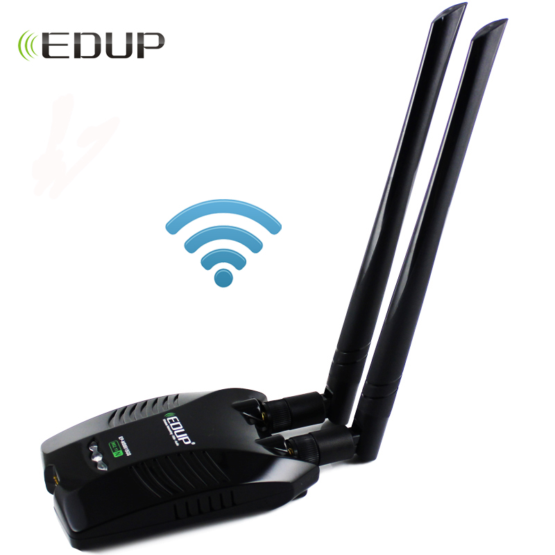 EDUP Ralink RT3070L Wireless Usb Wifi Adapter High Gain 2*5dBi Antennas Long Distance Wi-fi Receiver Usb Ethernet Adapter For PC