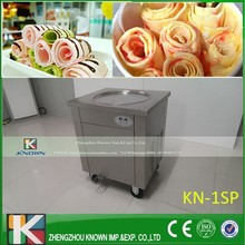 free shipping  single pan fry ice pan machine /ice cream frying machine