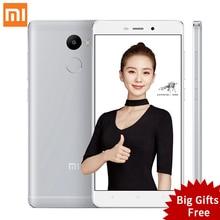 Оригинал Xiaomi Редми 4 2 ГБ RAM 16 ГБ ROM Snapdragon 430 красный рис 4 5.0 Дюймов 4100 мАч 13.0MP Redmi4 Мобильных Телефонов