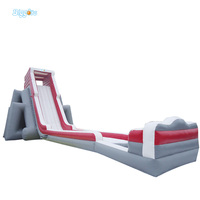 Commercail Grade Inflatable Water Slide With Long Beach Slide for Adults and Kids Game