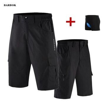WOSAWE hombres Shorts deportivos para exterior MTB bicicleta de montaña pantalones cortos de ciclismo resistente al agua cuesta abajo con acolchado 3D ropa interior