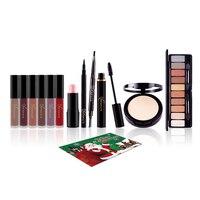 Makeup Cosmetic Set Lip Gloss Eyebrow Pencil Eye Shadow Gift Box For Christmas Cosmetic Tools