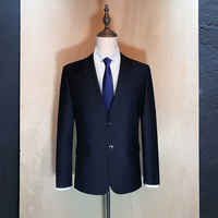 S 9XL Size Men Long sleeved Suit Jackets Business Wedding Blazers Male Blue and Black
