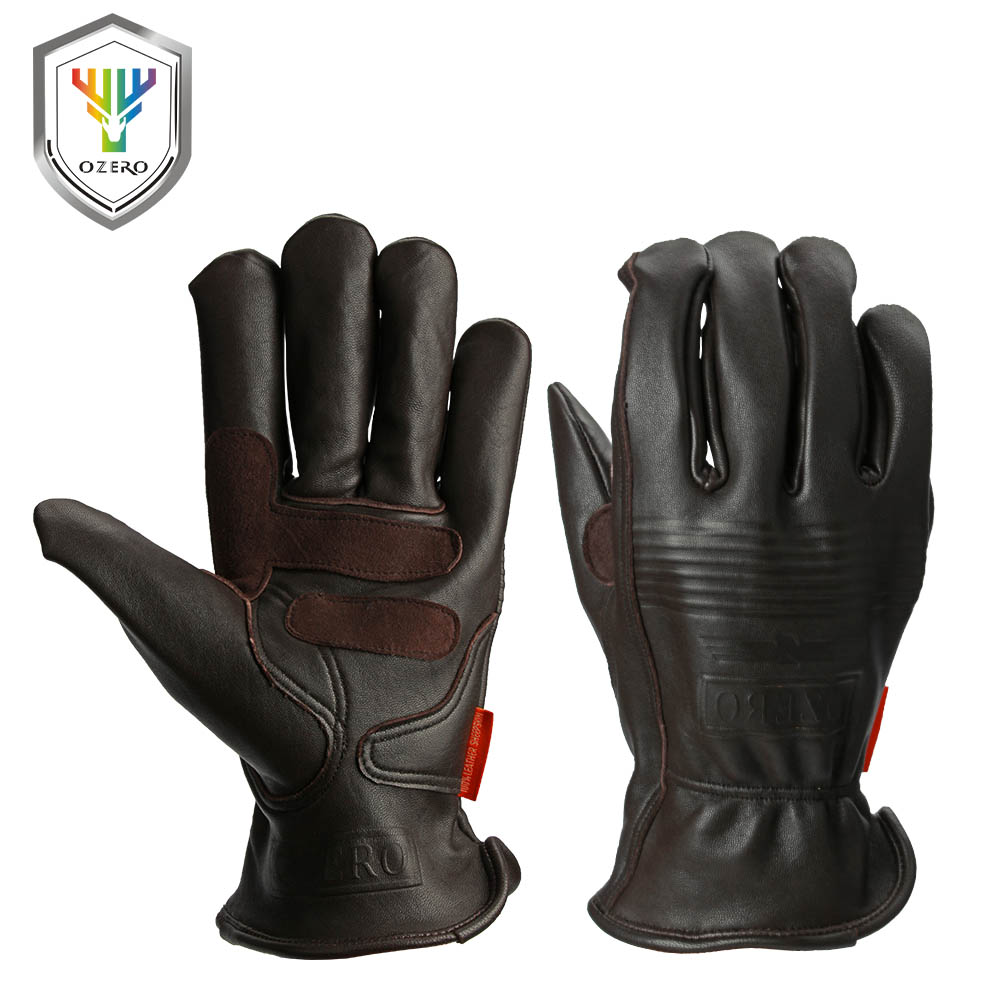 Thermal leather work gloves - Ozero Safety Gloves Working Hand Type Gloves Protective Welding Garden Antistatic Fishing Gloves Leather Work Gloves For Men0009