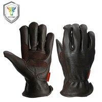 OZERO Sicherheit Handschuhe Arbeits Hand-typ Handschuhe Schutz Schweißen Garten Antistatische Angeln Handschuhe Leder Arbeitshandschuhe Für Men0009