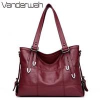 VANDERWAH Four Arrows Lady Top Handle Bags Handbags Women Famous Brands Female Stitching Casual Big Shoulder