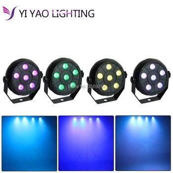 4pcs/lot Portable 6 Led 3 In 1 Par Stage Light 9w Disco Laser DJ Home Party