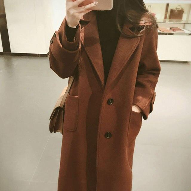Plus Size 5XL 6XL Autumn New Wool Coat Women Manteau Femme Winter Coat Women Fashion Elegant Long Woolen Coat Warm Parka C4940 2