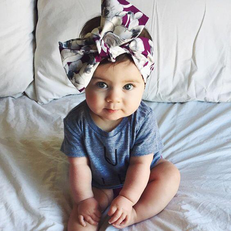 Girls Turban Headband Children Kids DIY Bowknot Headbands Baby Cotton Bow Headwraps Hair Accessories Hair Bands Bandana diy lovely baby big bow plaid headwrap for kids bowknot hair accessories children cotton headband girls gifts