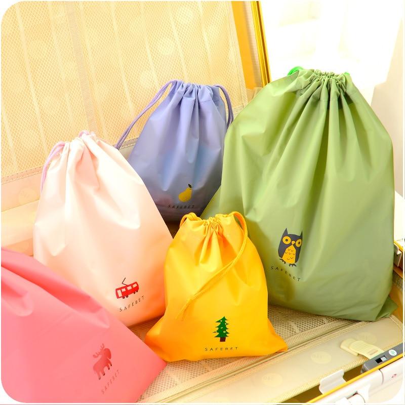 Women Make Up Bag PVC Waterproof Transparent With Drawstring Waterproof Transparent Travel Cosmetic Bag organizer Storage Bag custom transparent clear pvc make up tote bag with double handles