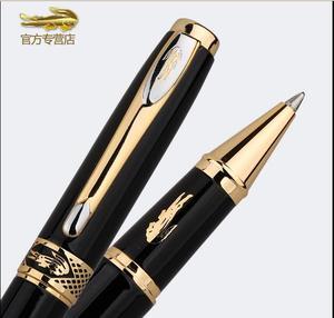 Image 3 - Papelería suministros de oficina de negocios de lujo cocodrilo 320 bolígrafos negros con logotipo dorado elegante escritura marca de regalo bolígrafos