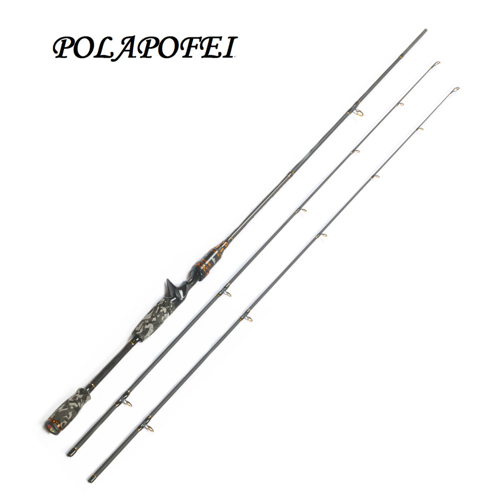 Carbon fishing rod pod lure spinning casting pole for Fly fishing with spinning rod