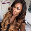 Ombre Brazilian Lace Front Human Hair Wigs 180% Glueless Full Lace Human Hair Wigs For Black Women 1b/4/27 Ombre Front Lace Wigs