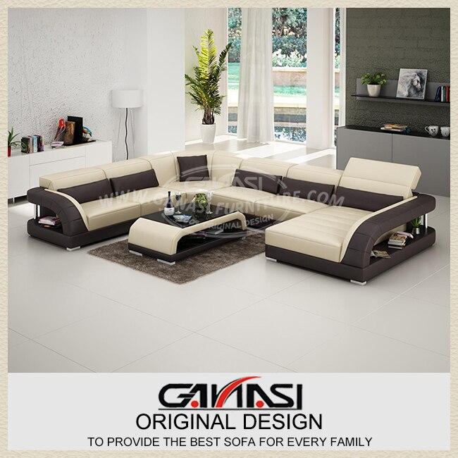 High Quality Europe Modern Home Furniture Leather Sofa-in