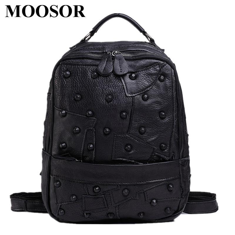 Здесь можно купить   2017 New Fashion Women Backpack Genuine Leather Women Bag Travel Bag Female Business Bag School Backpack High Quality HB20 Камера и Сумки
