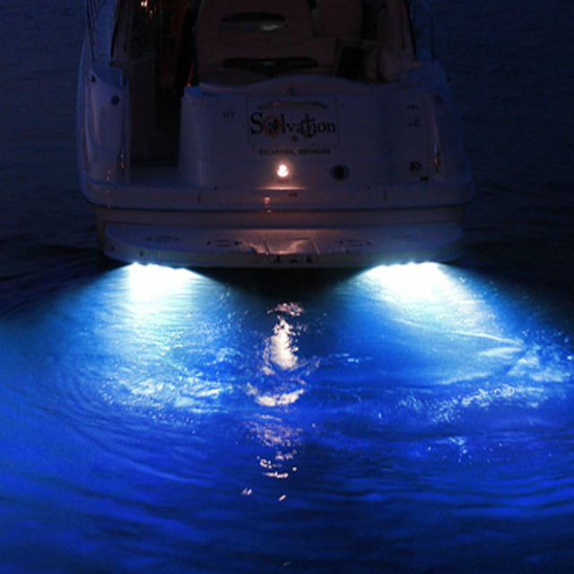 Waterproof Underwater Boat LED Light Under Water Fishing Lighing Wakeboard Marine Lights IP68 Super Bright : marine lights led - azcodes.com