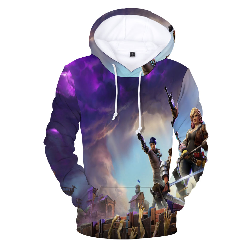 BTS Fortnite 3d New Hoodie Sweatshirt Pullover Big Size 4XL Hooded O-Neck Fortnite 3d Printed Hoodies Mens Clothing Casual