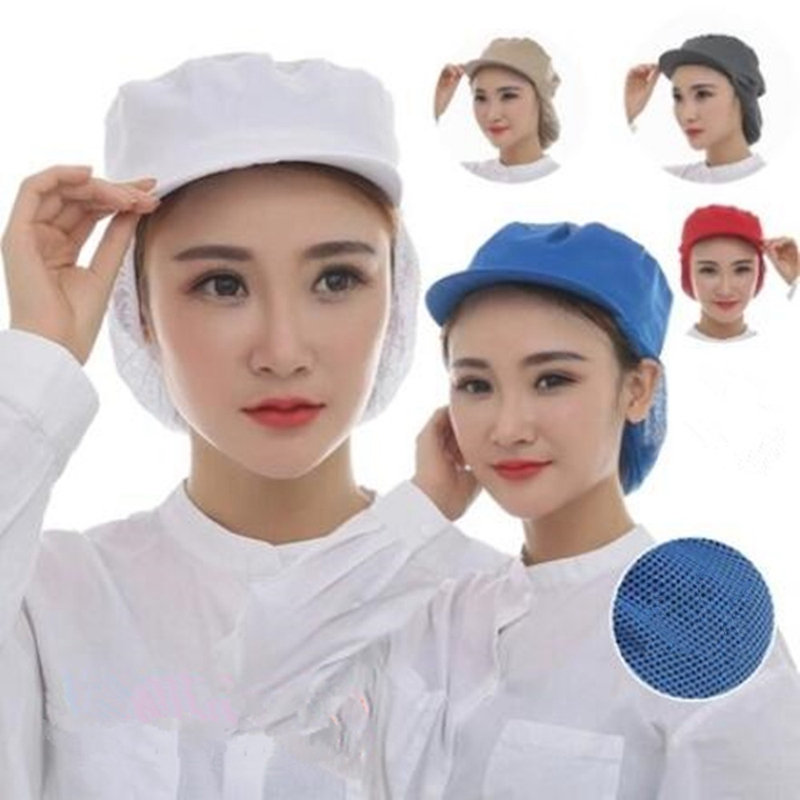 Men Women Cafe Bar Baker Kitchen Chef Mesh Catering Waiter Work Wear Cap Hat