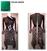 latin dance dress new dress pageant latin dance, salsa, latin dress costume Lemon Huang Shuijing latin dress