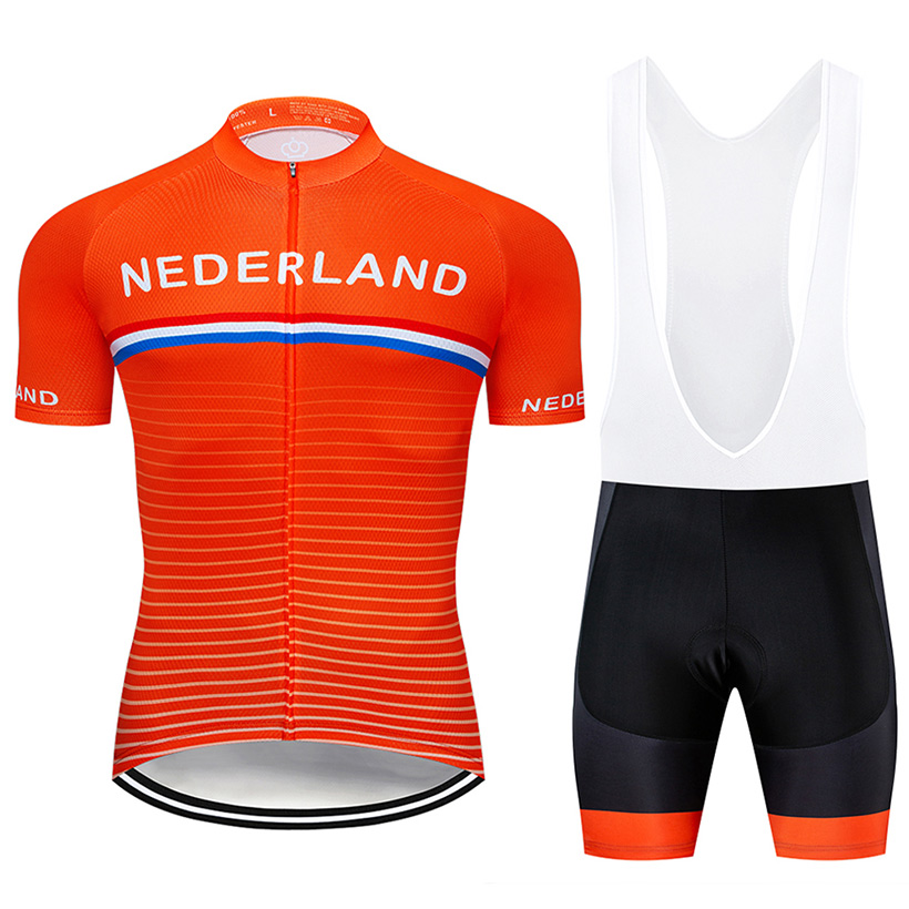 Crossrider 2019 Team Nederland Cycling Jersey MTB bike Clothing Men Short Set Ropa Ciclismo Bicycle Wear Clothes Maillot Culotte 1