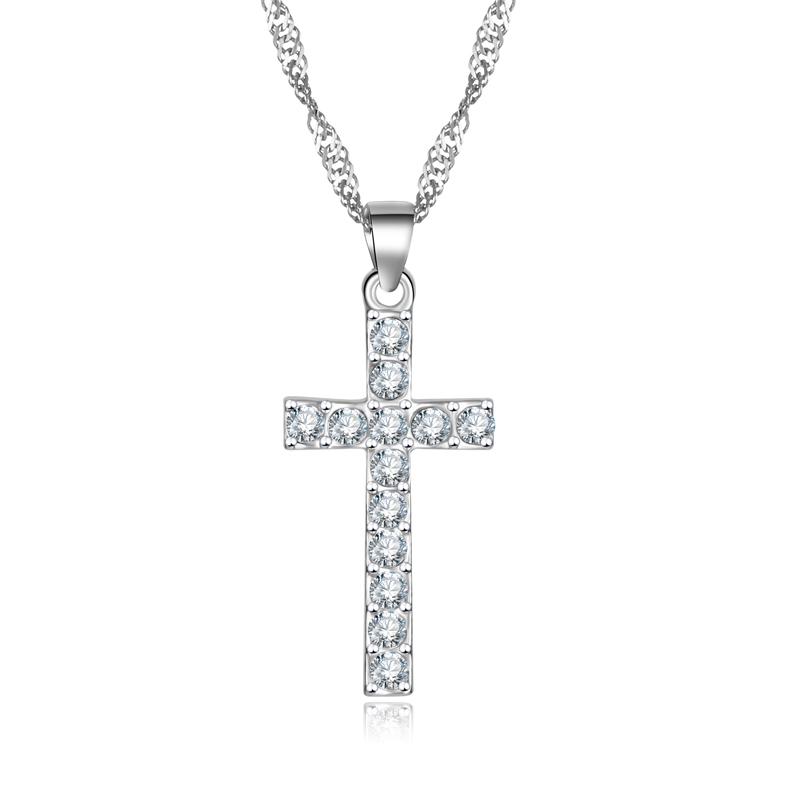 x307 2016 NEW Engagement Zircon CRYSTAL Wedding WOMEN lady Cross necklace hot sale