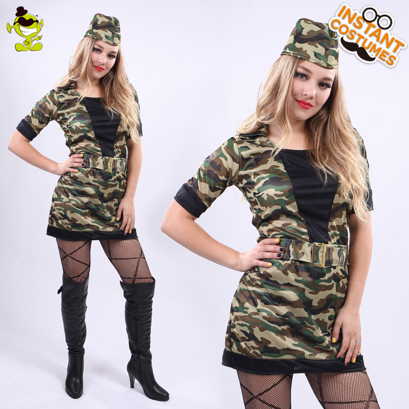 Women's <font><b>Sexy</b></font> Camouflage Costume Adult Women Carnival Party Cool Soldier Girl Decoration Fancy Dress Female <font><b>Sexy</b></font> <font><b>Army</b></font> <font><b>Cosplay</b></font> image